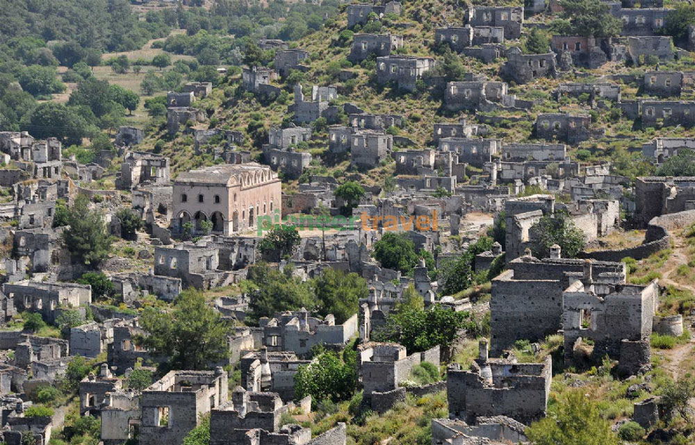 Kayakoy Ghosttown in fethiye Turkey